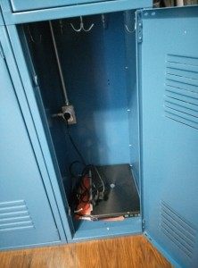 Locker with power socket
