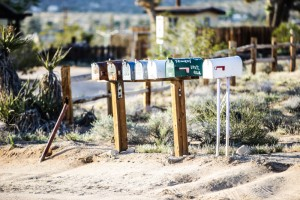 Typical mail boxes