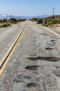 Potholes in the Mojave National preserve
